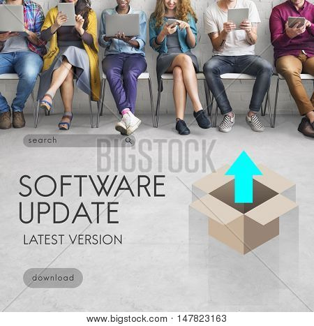 Upgrade Update New Version Better Graphics Concept