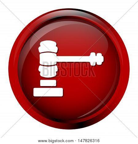 Hammer judge icon auction icon vector illustration
