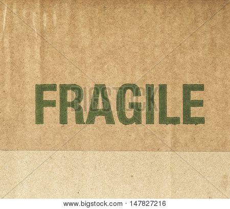 Vintage Looking Fragile Corrugated Cardboard