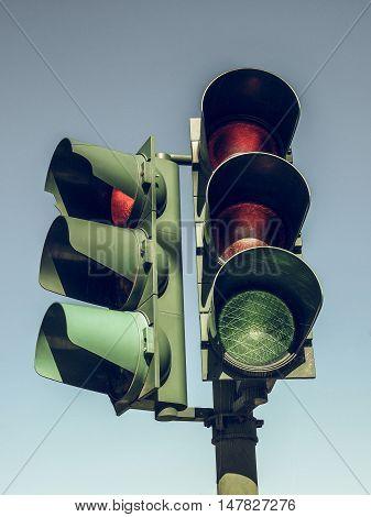 Vintage Looking Traffic Light