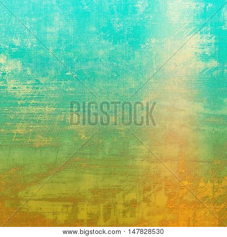 Retro texture, shabby and ragged background in grunge style. With different color patterns: yellow (beige); green; blue; red (orange); cyan