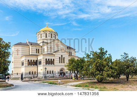 St. Vladimir's ancient Cathedral in Chersonese Sevastopol Crimea Russia September 13 2016
