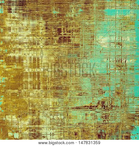 Grunge vintage template or antique background with different color patterns: yellow (beige); brown; blue; cyan