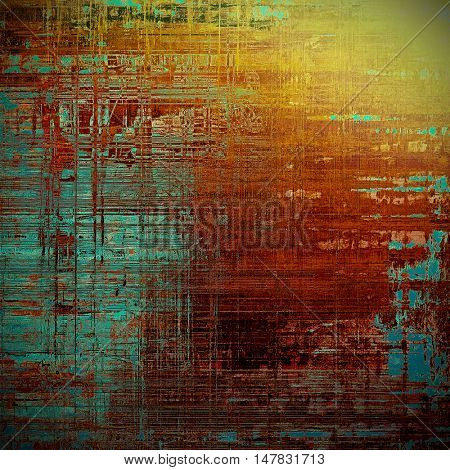 Old abstract texture used as shabby grungy background. With different color patterns: yellow (beige); brown; green; blue; red (orange)
