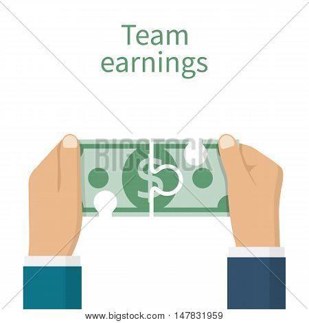 Earnings Team Concept