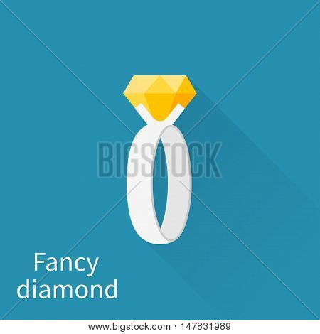 Fancy Diamond Flat Vector