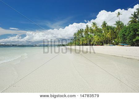 Beautiful Alona beach at Panglao, Philippines