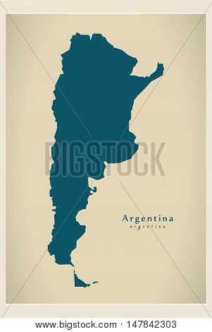 Modern Map - Argentina AR vector high res
