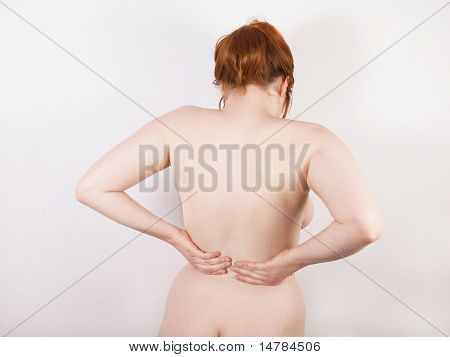 woman with backache