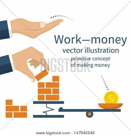 Money For Work Vector
