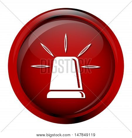 Siren button emergency sign red button vector illustration