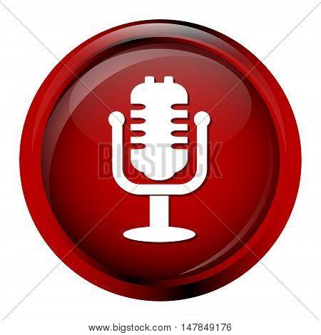 Microphone classic Icon voice icon vector illustration