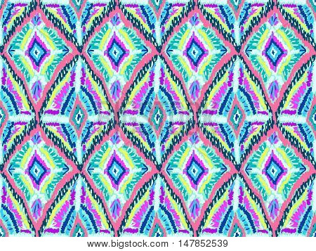 Ethnic ornament pattern. Abstract boho style background. Hippie fashion fabric. Vector seamless texture for web design wrapping paper clothes or interior textile.
