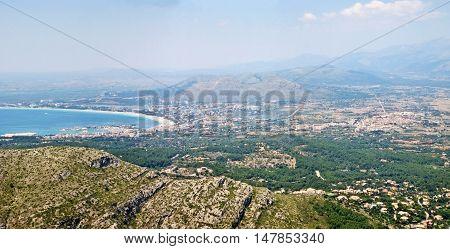Port D'alcudia, Bay Of Alcudia, Majorca, Spain
