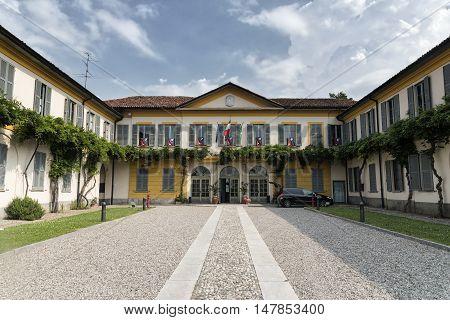 SOLARO, ITALY - JUNE 25, 2016: The municipal hall of Solaro (Lombardy Italy) exterior