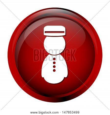Bellboy icon symbol, red button vector illustration