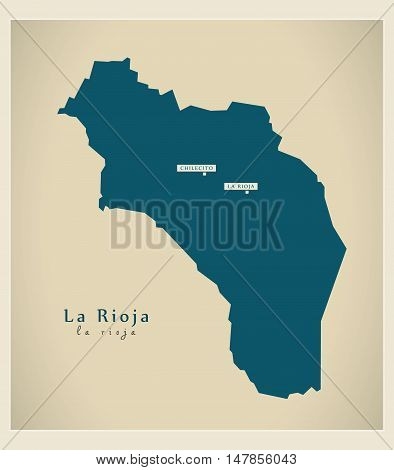Modern Map - La Rioja AR vector