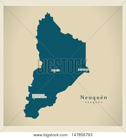Modern Map - Neuquen AR vector high res