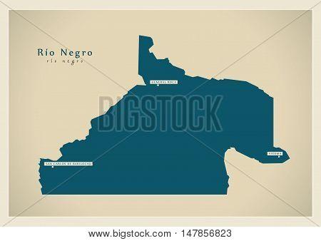 Modern Map - Rio Negro AR vector