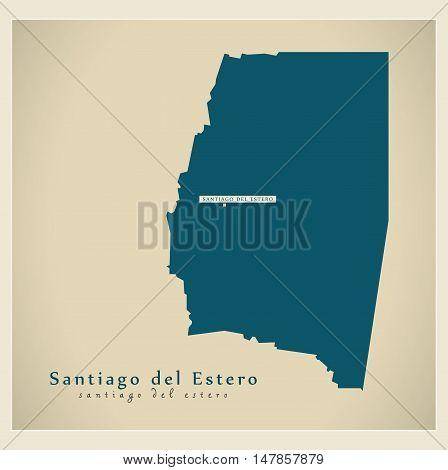 Modern Map - Santiago del Estero AR