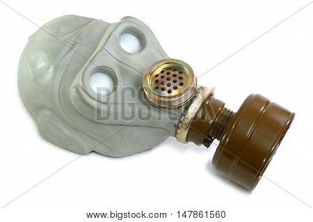 Old Soviet gas mask personal protection breathing