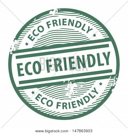 Grunge rubber stamp with the text Eco Friendly written inside the stamp, vector illustration