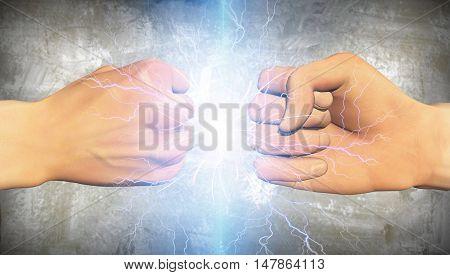 Battle 2 Fists 3D Render