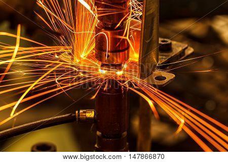 The Spot nut welding industrial  automotive in thailand.