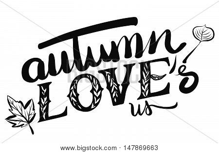 Autumn Loves Us Typo Headline