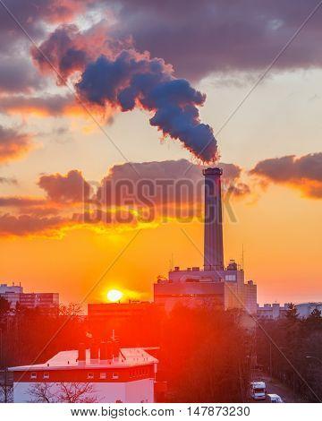 Smoking pipe of power plant