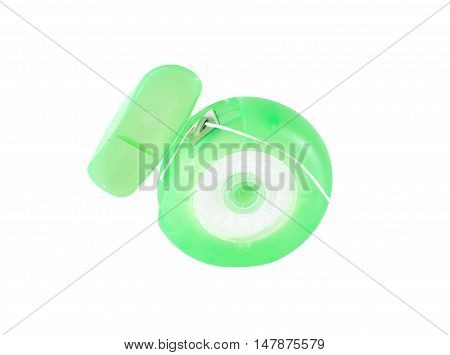 Dental Floss Close Up Isolated On White Background