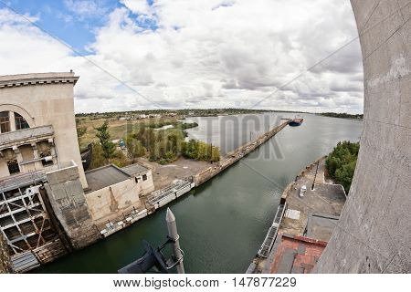 The Entrance To The Airlock Of The Gateway Volga-don Shipping Canal