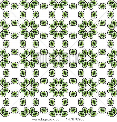 Abstract eyes or pebbles seamless pattern. Green beads or droplets abstract background. Can be used for website design pattern fill packaging clothing printing on surfaces.