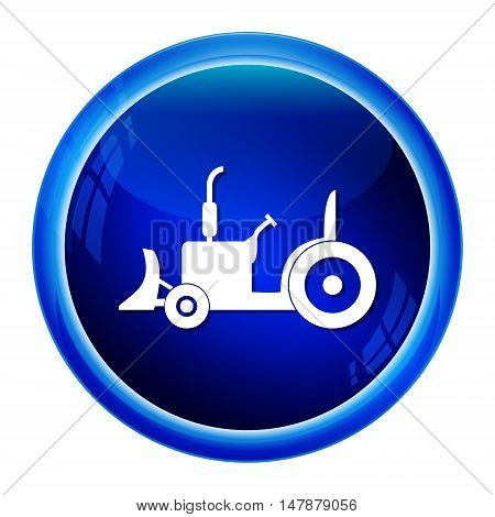 Tractor icon Agriculture tractor icon vector illustration