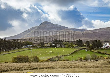 An image of a landscape scenery at Donegal Ireland