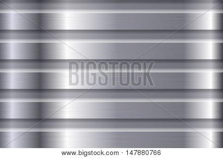 Metal steel background. Brushed plate. Vector illustration