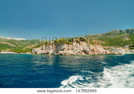 St. Stephan island in Adriatic Sea in Montenegro.