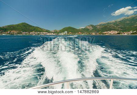 View of the seacoast Budva, Montenegro.