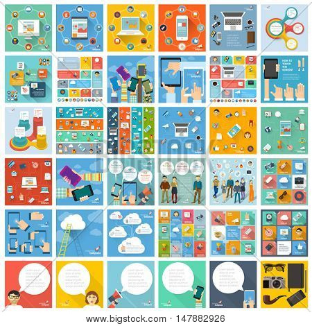 Universal collection of flat ifographic mock-ups and concepts.