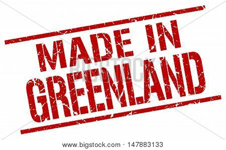 made in Greenland. Stamp. Square grunge sign