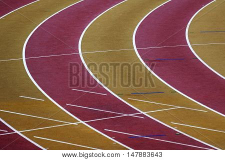 Running track. closeup. Track and field sport.
