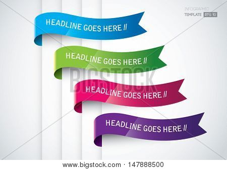 Vector of modern infographic banner templates