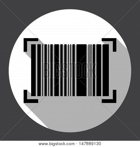 Bar Code Icon Web Flat Vector Illustration