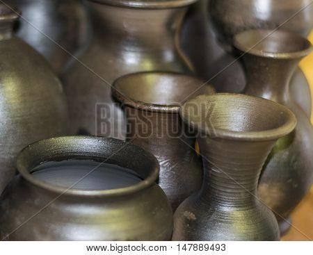 Very Beautiful Tableware Made Of Clay. Handmade.