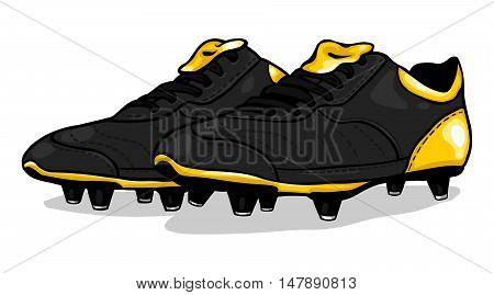 Vector Black Football Boots