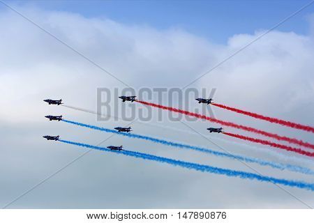 Aerobatic Team In Action