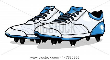 Vector White Football Boots