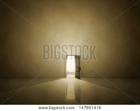 Doorway shine 3D Render