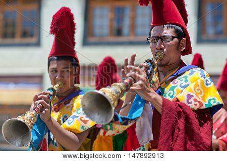 Cham Mystery During Yuru Kabgyat Festival At Lamayuru Gompa In Ladakh, India