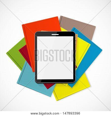Superiority E-Book Over Paper Books Concept Vector illustration. EPS10